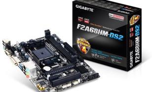 Płyta główna Gigabyte A68H SFM2+ PCX, DZW, GLAN, SATA3, USB3, RAID, DDR3, CROSSFIRE, mATX (GA-F2A68HM-DS2)