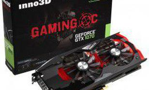 Inno3D GeForce GTX 1070 Gaming OC 8GB GDDR5 (256 Bit) HDMI, DVI, 3xDP, BOX (N1070-1SDN-P5DNX)