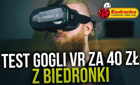 Hykker VR Glasses - Test Gogli VR za 40 zł z Biedronki!