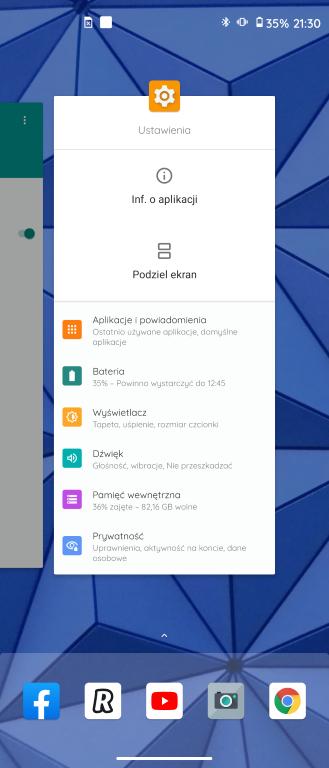 Aktualna lista procesów w Androidzie