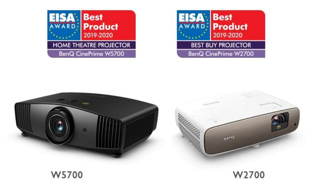 Nagrodzone przez EISA BenQ W2700 i W5700
