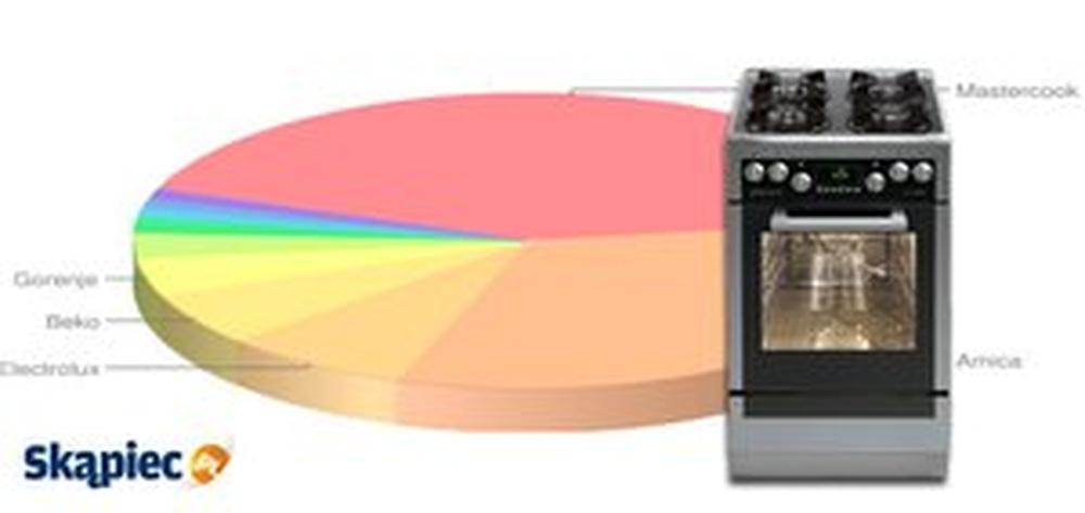 Ranking kuchenek gazowych i elektrycznych - kwiecień 2013