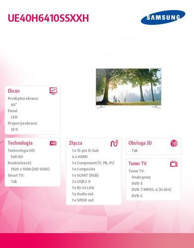 Samsung 40'' LED UE40H6410SSXXH