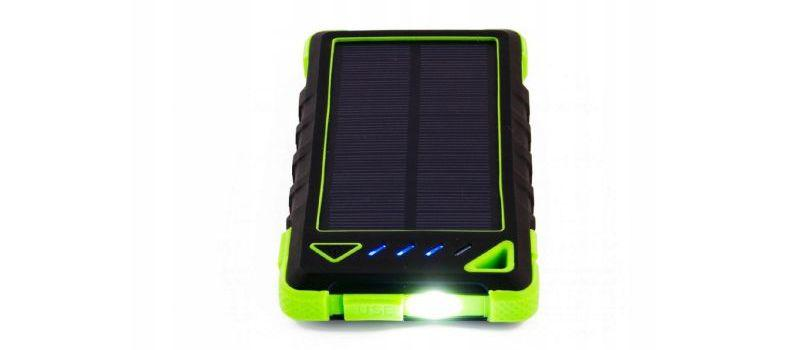Sunen PowerNeed 8000mAh Zielony (S8000G) to powerbank z panelem solarnym