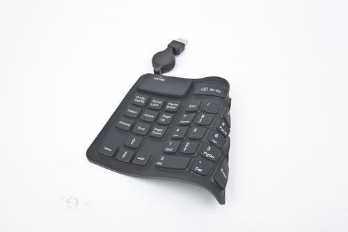 GEMBIRD Klawiatura numeryczna silikonowa USB (KPD-2F) Czarna