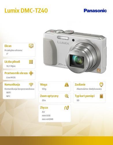 Panasonic Lumix DMC-SZ DMC-TZ40 silver