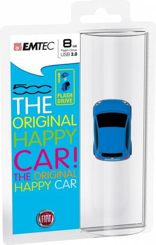 EMTEC Pendrive 8GB Fiat 500 Blue F101