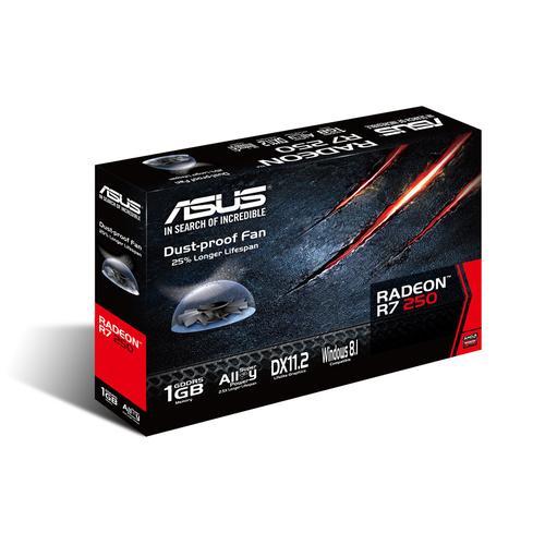 Asus Radeon R7 250 1GB DDR5 128BIT PCI-E DVI/HDMI/DSub BOX