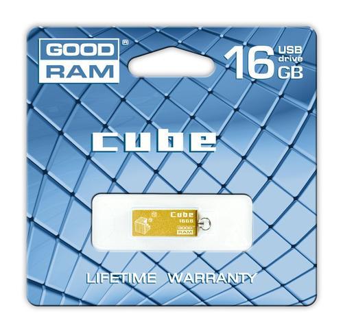 GoodRam Cube 16GB USB 2.0 Złoty