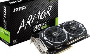MSI GeForce GTX 1080 Ti ARMOR OC 11GB GDDR5X (352 bit), DL-DVI-D, 2x HDMI, 2x DP, BOX (1080 Ti ARMOR 11G OC)