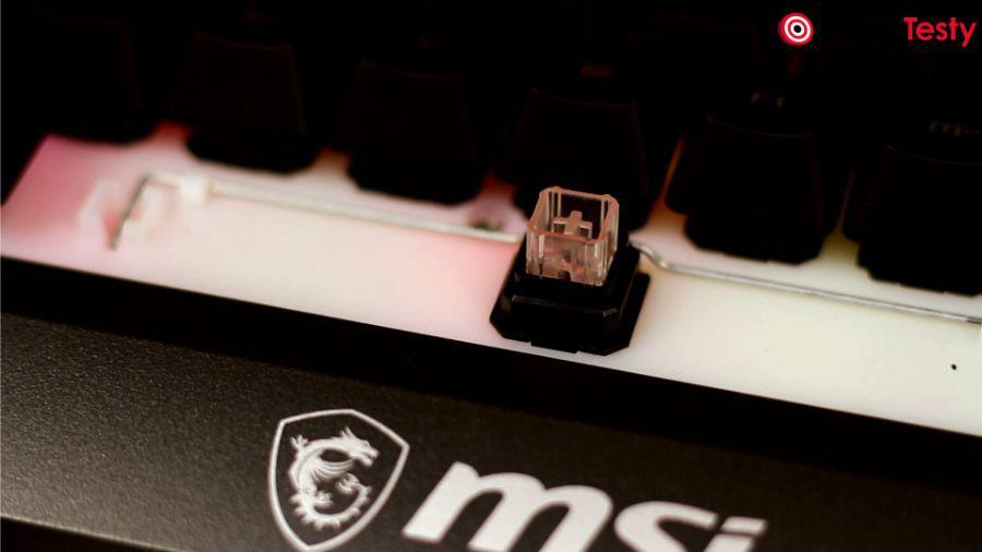 MSI GK30 - przełączniki mem-chaniczne