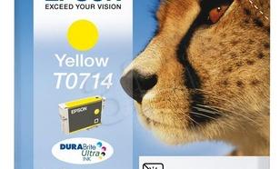 EPSON Tusz Żółty T0714=C13T07144011, 8 ml