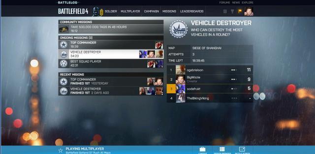 Battlefield 4  Battlelog