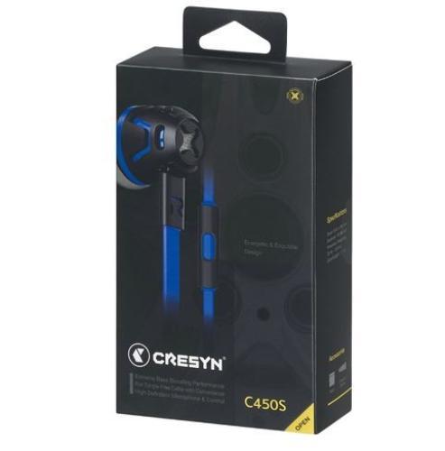 Cresyn C450s Słuchawki do Smartphona (mic+pilot) niebieskie