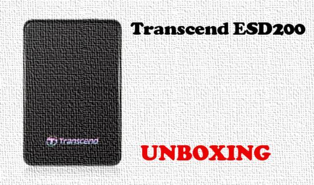 Transcend ESD200 rozpakowanie dysku SSD USB 3 0 [UNBOXING]