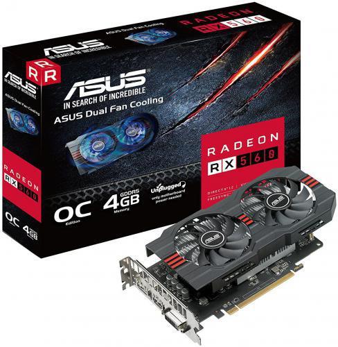 Asus Radeon RX 560 ROG Strix Evo OC 4GB GDDR5 (128 bit), DVI-D, HDMI, DP (ROG-STRIX-RX560-O4G-EVO)