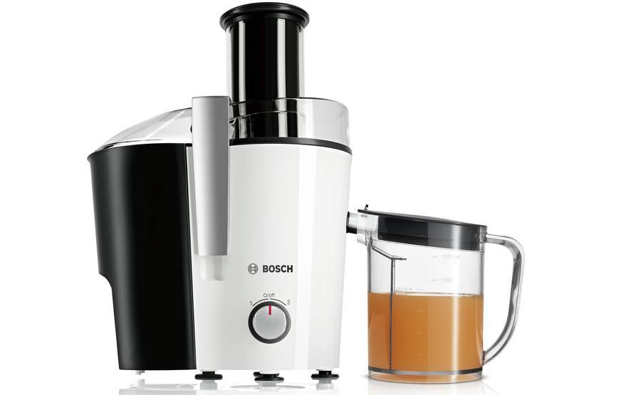 sokowirówka Bosch z pojemnikiem na miąższ i na sok