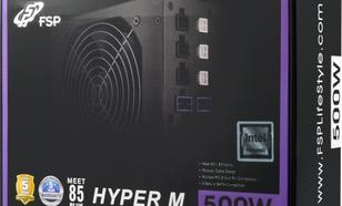 FSP/Fortron Hyper M 500W 80PLUS 120mm Modularny (HYPER M 500)