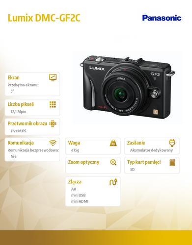 Panasonic Lumix DMC-SZ DMC-GF2C + 14/F2,5mm