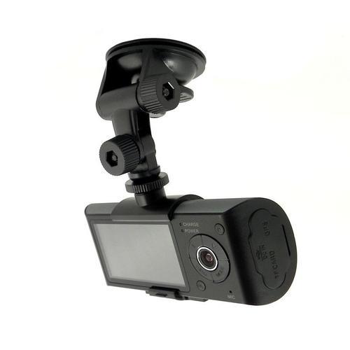 Qoltec Rejestrator jazdy HD, 2xCam, GPS, LCD 2.7 cala