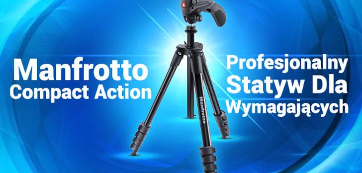 Manfrotto Compact Action - Profesjonalny Statyw Dla Wymagających