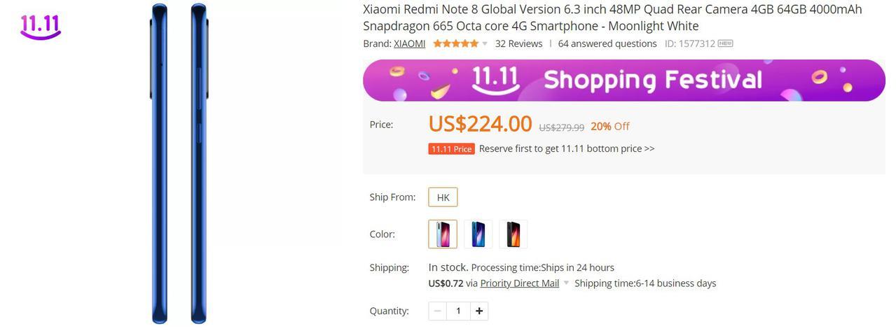 Redmi Note 8 11 listopada będzie znacznie tańszy