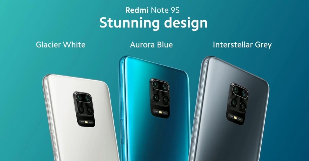 Redmi Note 9S pojawi się w trzech kolorach