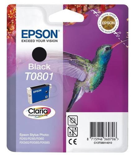 EPSON Tusz Czarny T0801=C13T08014011, 8 ml