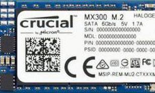 Crucial MX300 1TB SATA M.2 (CT1050MX300SSD4)