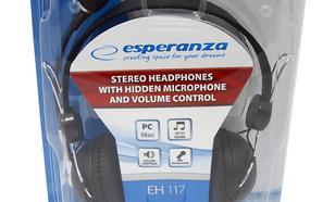 ESPERANZA Słuchawki EH117 Z MIKR. STEREO/REG GLO DUŻE