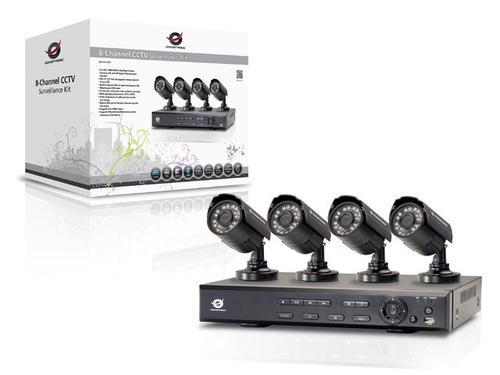 Conceptronic Zestaw CCTV (4 Kamery + Rejestrator 8-kanałowy)