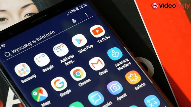 Samsung Galaxy Note9 interfejs