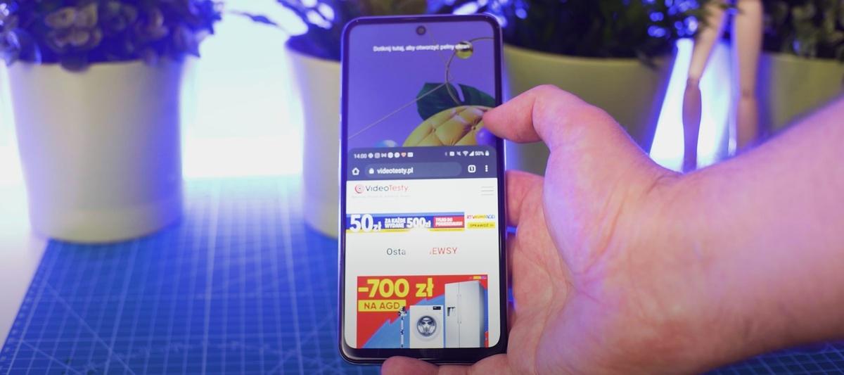 LG K52 ma duży ekran, którego przestrzeń roboczą prosto zmniejszymy