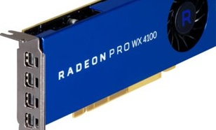 HP Radeon Pro WX 4100 4GB GDDR5 (128 bit), 4xMini-DisplayPort, BOX