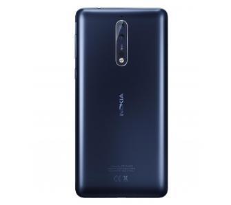 Nokia 8 (niebieski matowy) + VR Zeiss + etui Soft Touch Cover (czarny)