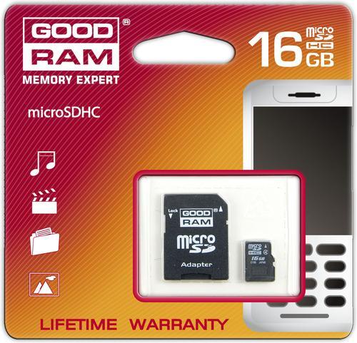 Goodram microSD 16GB Class 10 + adapter