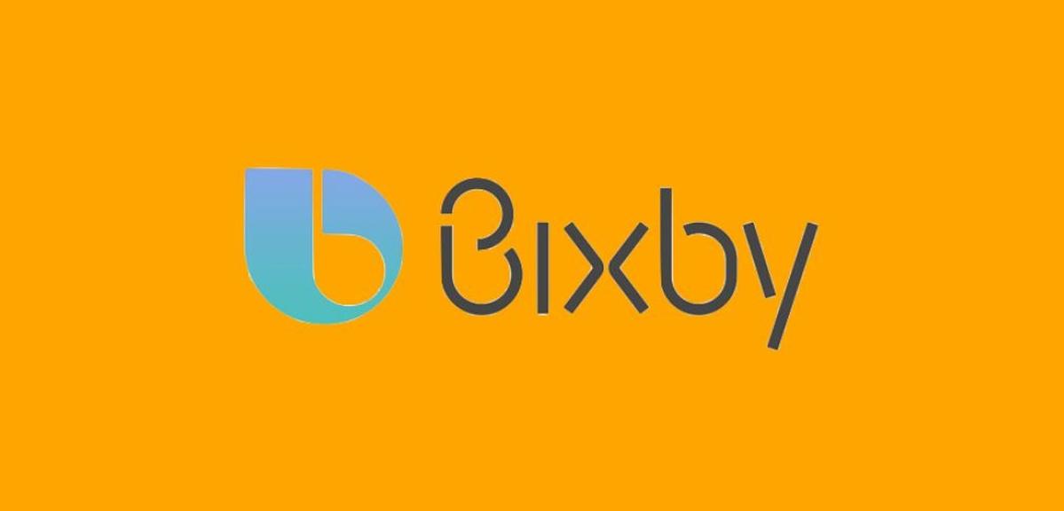 Logo Bixby na pomarańczowym tle