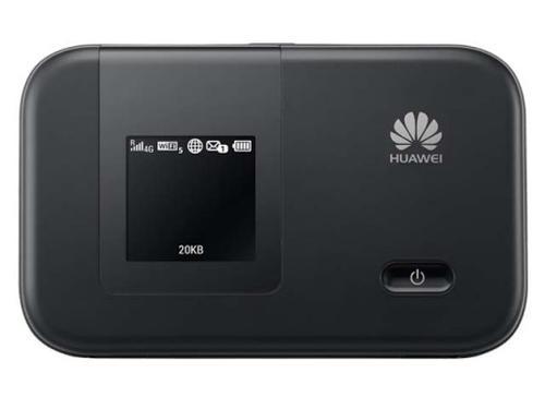 WEL.COM Huawei E5372s-32 3G/4G WiFi HSPA+/LTE router przenośny z wbudowaną baterią, wyświetlaczem, kolor czarny