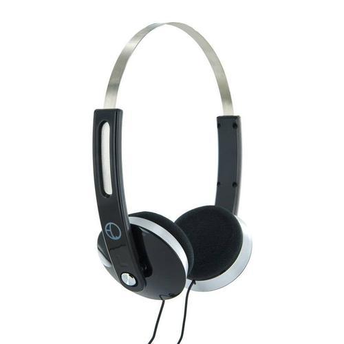 4World Słuchawki stereo nauszne czarne,Super Bass,COLOR 08247