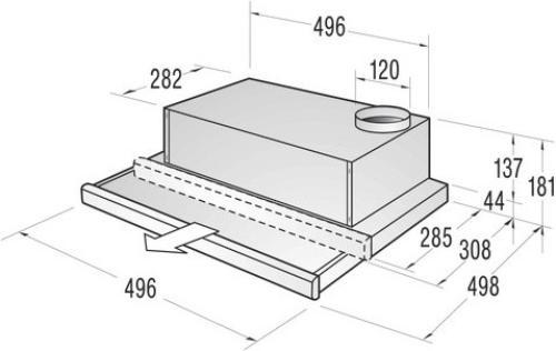 Gorenje Okap podszafkowy DKF500MH - Typ II