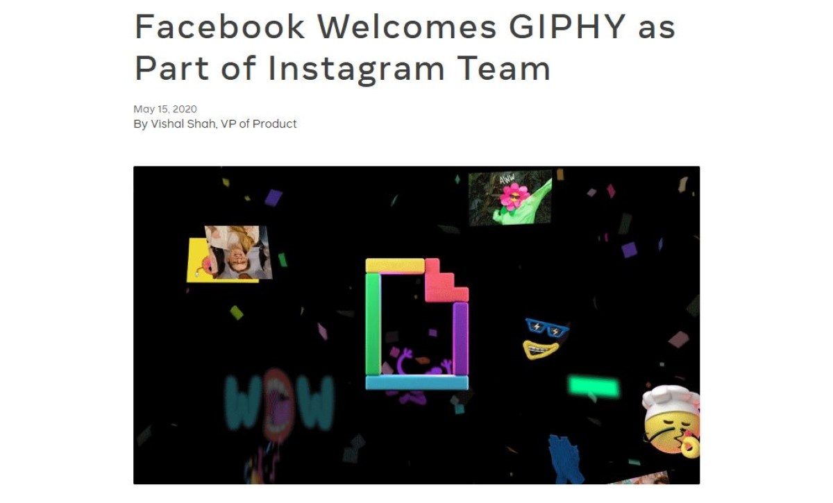 Facebook wita Giphy