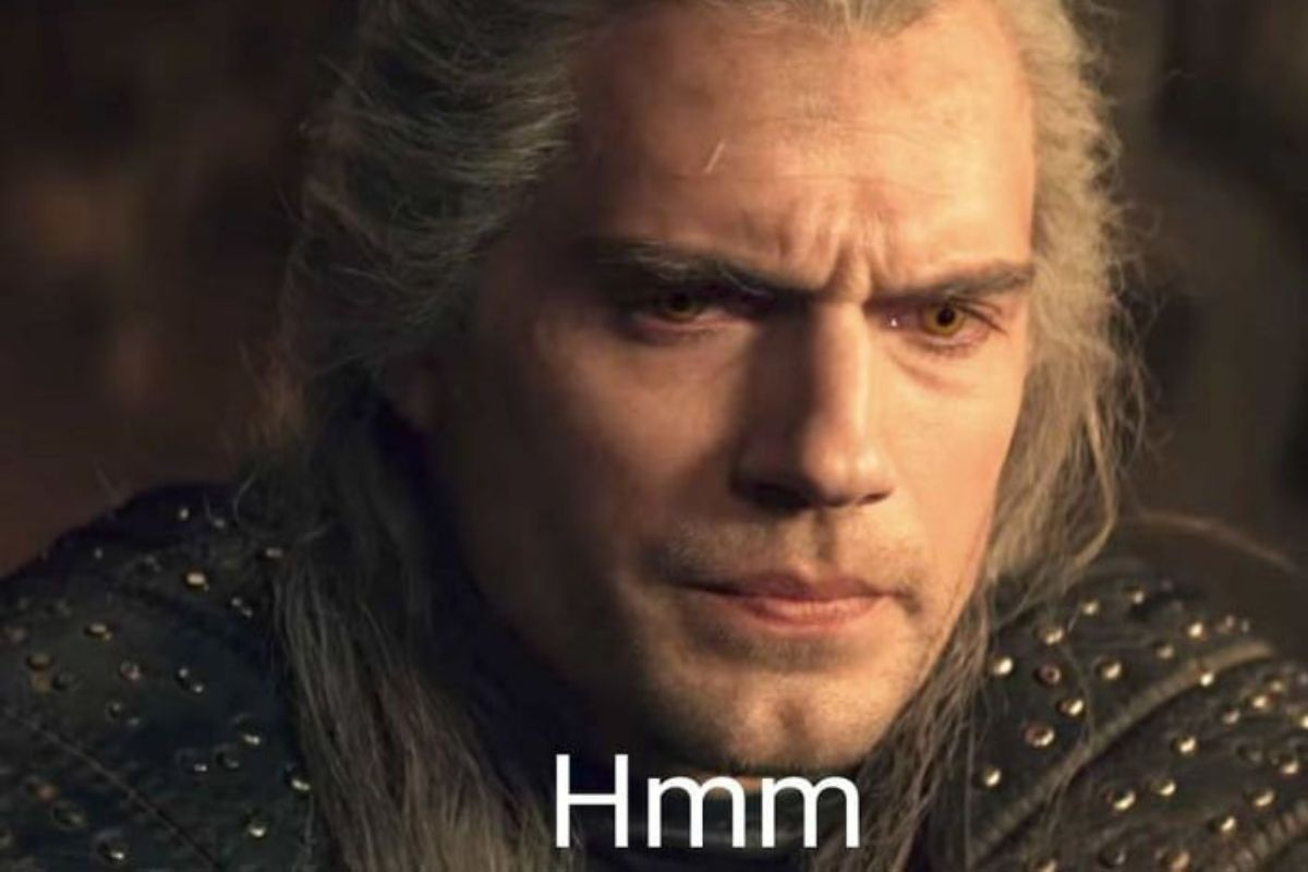Popularny mem związany z serialem Wiedźmin