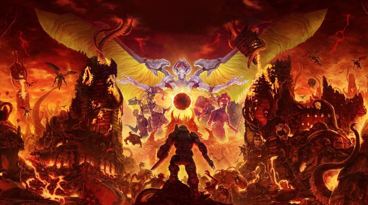 Doom Eternal - anioły i demony na grafice
