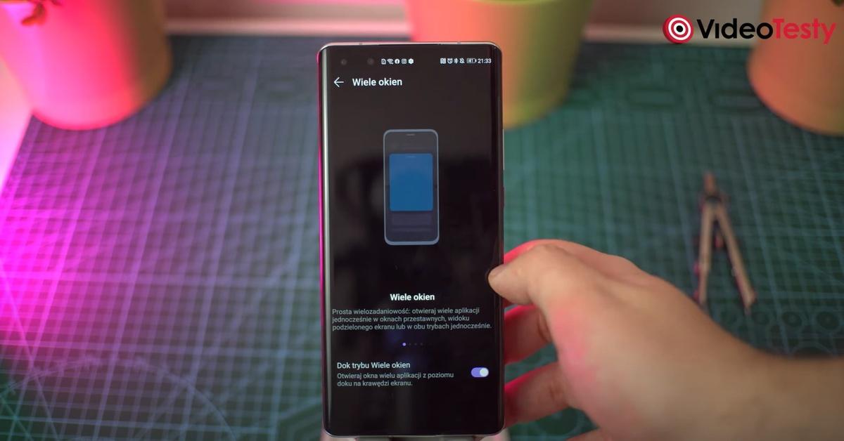 Nowością w nakładce Huawei są okienka z aplikacjami