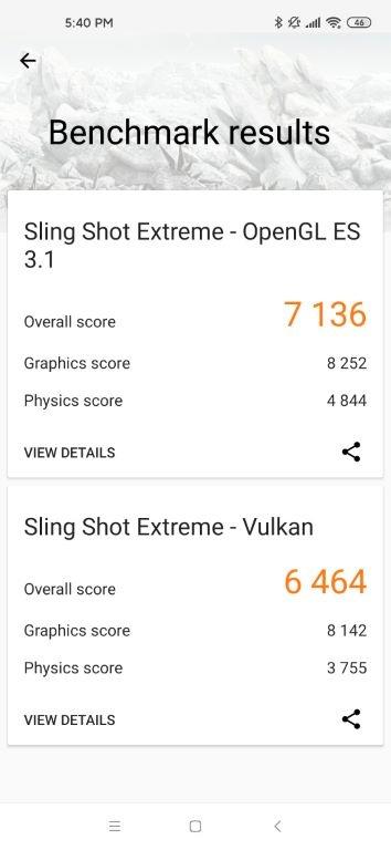 Xiaomi Mi 10 - wynik w 3D Mark