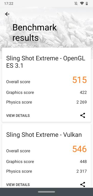 Wynik w 3D Mark (po aktualizacji sterowników Vulkan)