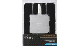 i-Tec USB 3.0 Metal Passive HUB 4 Porty bez zasilacza do Notebooka Ultrabooka Tablet PC Obsługa Windows i Mac OS