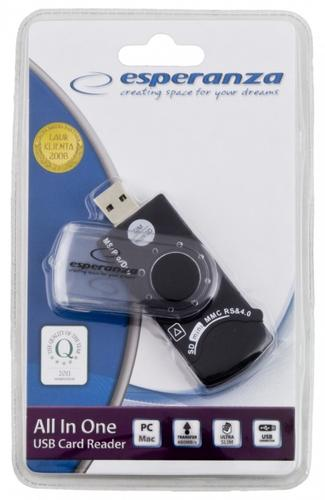 ESPERANZA CZYTNIK KART PAMIĘCI ALL IN ONE + SIM EA118 USB 2.0