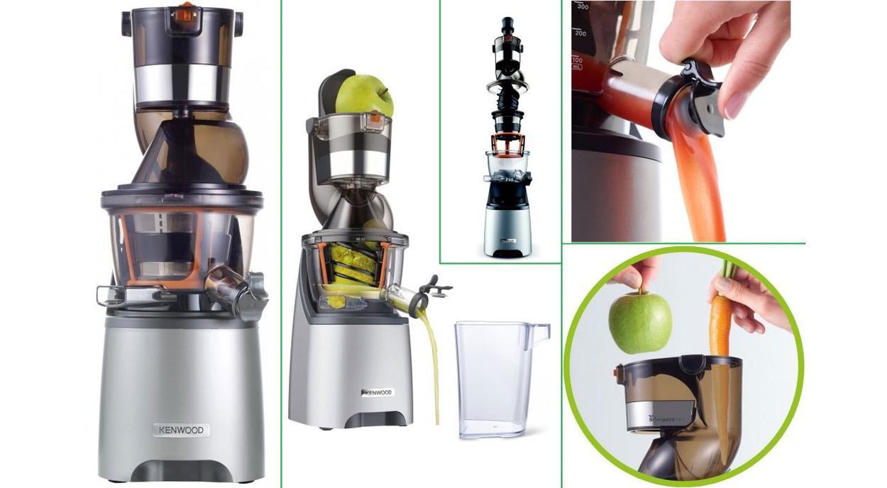 wyciskanie soku z marchwi i z jabłka w wyciskarce