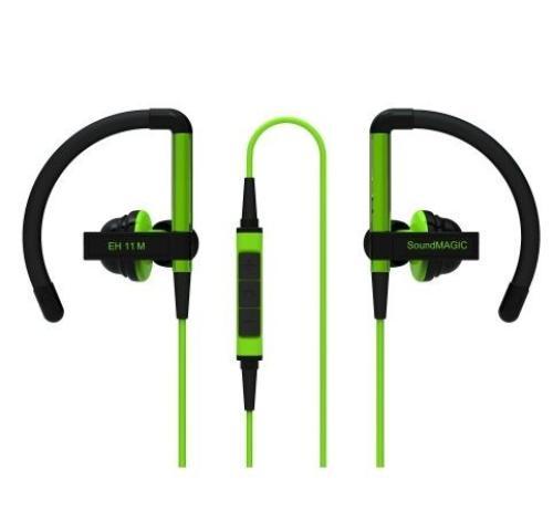 SoundMAGIC EH11M zielone, sportowe z mikrofonem i pilotem